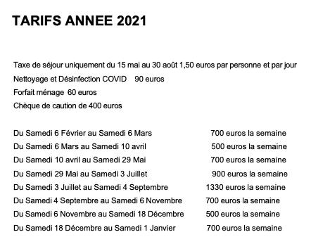 TARIFS 2021 300521